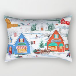 Wintertime in Sugarcreek Rectangular Pillow