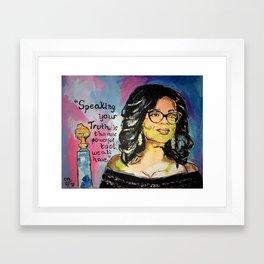 Speak your Truth: Oprah Framed Art Print