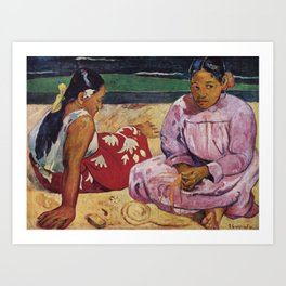 Paul Gauguin - Woman from Thaiti Art Print