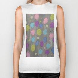 Pastel Bubbles Abstract Biker Tank