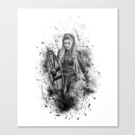 Ink Lagertha Canvas Print