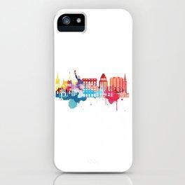 New York Fun Cityscape Watercolor iPhone Case
