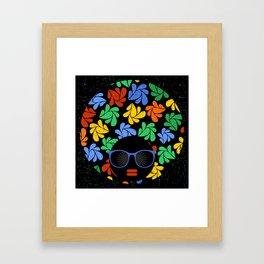Afro Diva : Colorful Framed Art Print