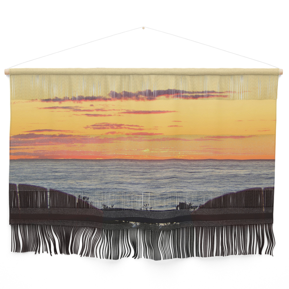 Sunset And The Chairs Wall Hanging by danbythesea