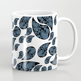 Paisley turquoise, black and white. Coffee Mug