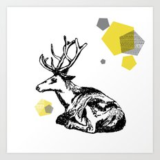 simply deer Art Print