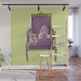 animals in chairs #13 Bunnies Wall Mural