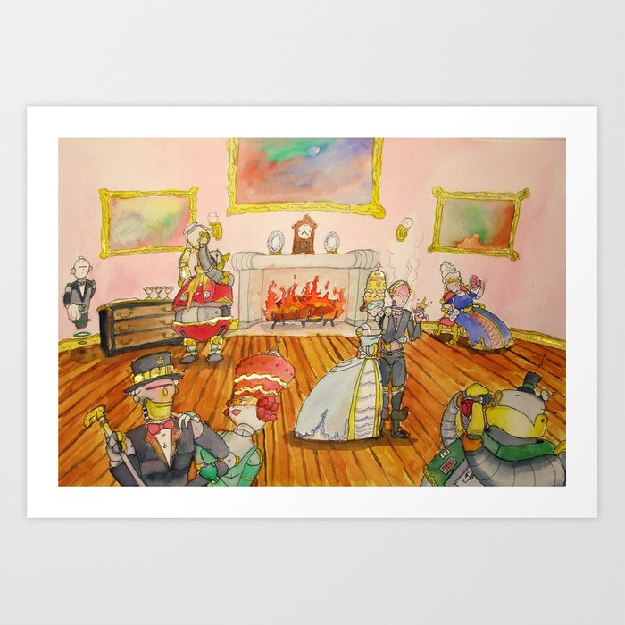 Seven Sins and a Footman Art Print