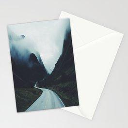Dark road Stationery Cards