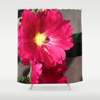 peony Shower Curtains featuring Peony by Alex Sallade