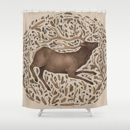 Elk in Nature Shower Curtain