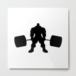 Heavy weight lifting beast Metal Print