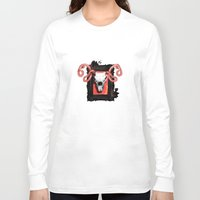 vegetarian Long Sleeve T-shirts featuring VEGETARIAN PAINTING by 13 DESIGN