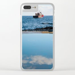 Whale watching boat Clear iPhone Case