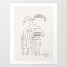 sweater swap Art Print