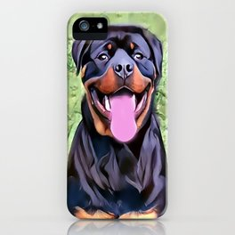 Happy Rottweiler iPhone Case