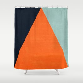 mod triangles - autumn Shower Curtain