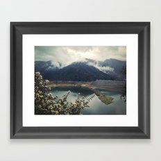 San Gabriel Dam Framed Art Print
