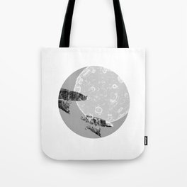 Around the Moon Grey Textured Version 1 Tote Bag