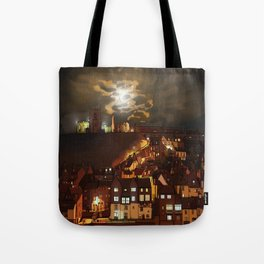 Whitby By Moonlight  Tote Bag