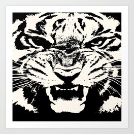 White Tiger Vector Kunstdrucke