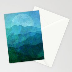 Blue Abstract Landscape Stationery Cards