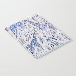 Blue Giraffe Pattern Notebook