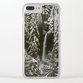 silver falls north Clear iPhone Case