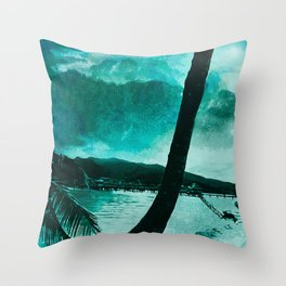 Tempest Island (Colder Version) Throw Pillow