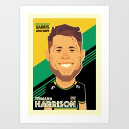 Teimana Harrison - Northampton Saints Art Print