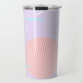 Memphis Summer Lavender Waves Travel Mug