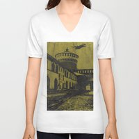 milan V-neck T-shirts featuring Milan 5 by Anand Brai