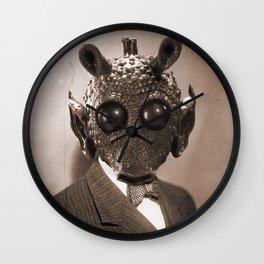 Portrait of Sir Greedo Wall Clock