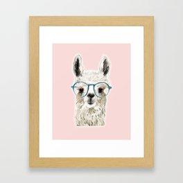 Eyeglasses lama Framed Art Print