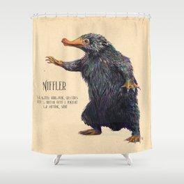 Niffler art Fantastic Beasts Shower Curtain