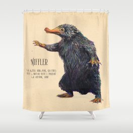 Niffler art Fantastic Beasts Shower Curtain