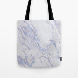 Marble Love Sapphire Metallic Tote Bag