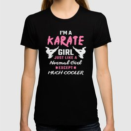Karate Girl Karate Gifts For Karate Lovers Karate Items T-shirt