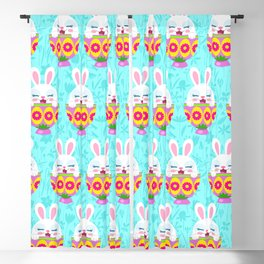 bunny in egg Blackout Curtain