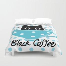 Black Coffee Duvet Cover