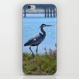 heron by the bridge iPhone Skin