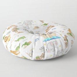 Noahs Ark Animals Floor Pillow