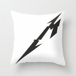 Metal Sign Throw Pillow