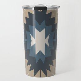 Santa Fe Southwest Native American Indian Tribal Geometric Pattern Travel Mug