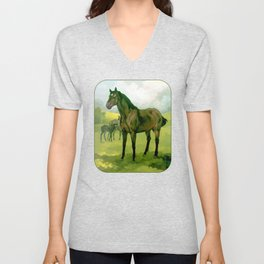 Sound Reason (CAN) - Thoroughbred Stallion Unisex V-Neck