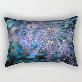 purple alliums Rectangular Pillow