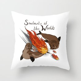 Soul mate of the worlds Throw Pillow