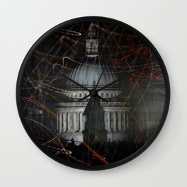 St Paul's Cathedral behind colours Wall Clock