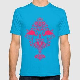 Flamingo Damask T-shirt