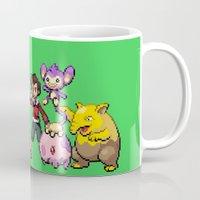 stiles stilinski Mugs featuring PokeWolf: Stiles Stilinski by Trickwolves